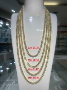 BRAND NEW PURE 10K YELLOW GOLD 5MM FRANCO LINK CHAIN 22-28 INCH 22.5-28.4 GRAMS Canada Preview