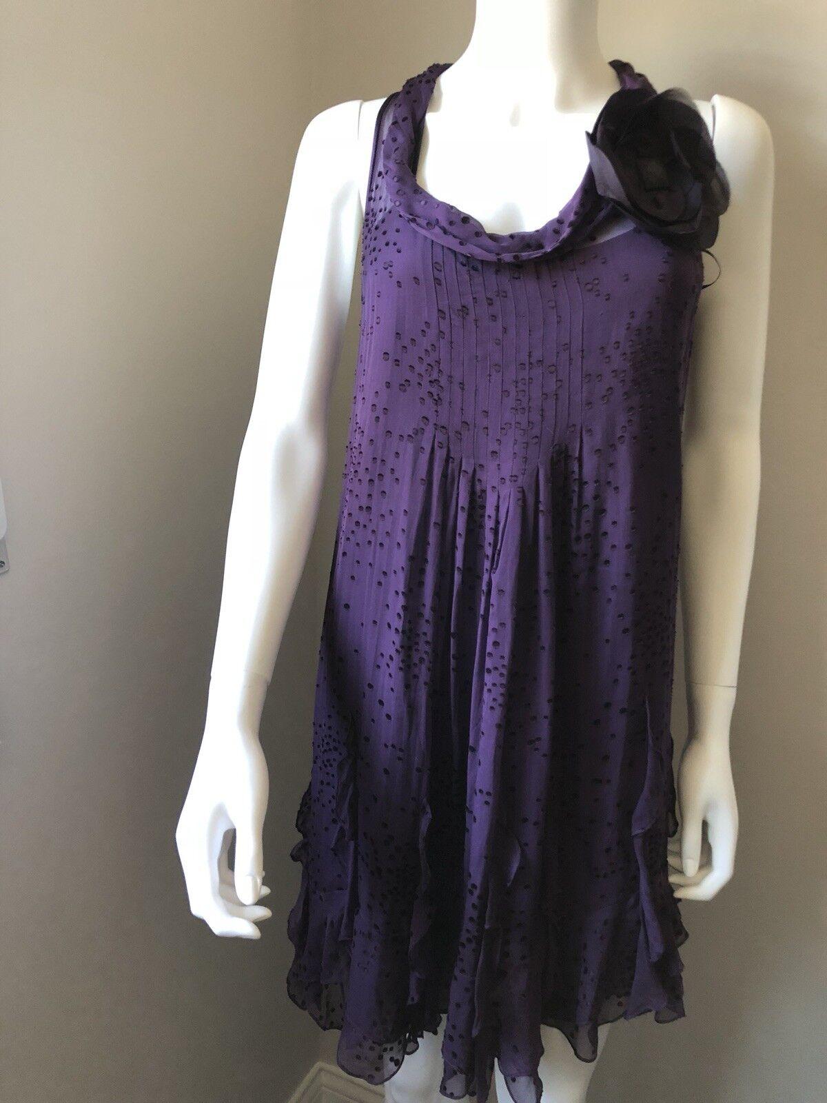 Rebecca Taylor  Silk Dress sleeveless minidress Größe 6 Embellished