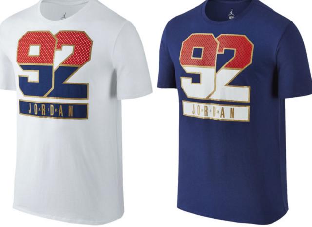 Details about NEW NIKE JORDAN 92 RETRO MEN'S BASKETBALL T SHIRT JUMPMAN GREY BLUE WHITE TEE L