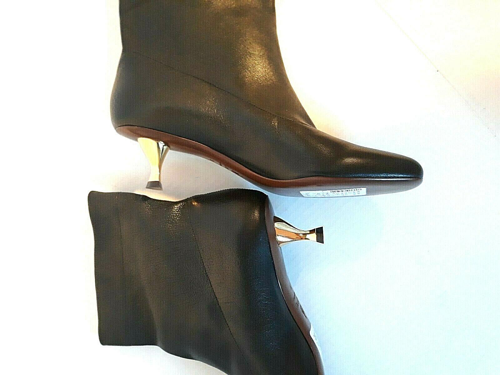 Lanvin Kitten Heel Heel Heel Ankle leather Boots Womens Size    38   8  1195 24b04b