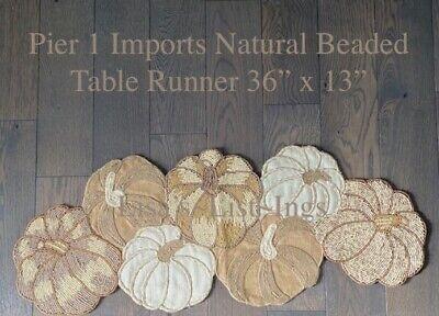 "Celebrate Fall Together Autumn Harvest Pumpkin Cutout Table Runner 36/""L x 13/"" W"