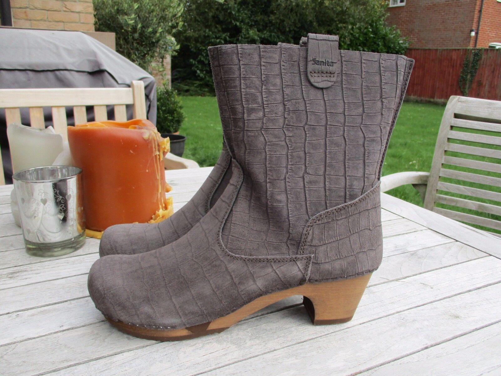 Nuevo-Sanita-Liva Soft Flex Flex Flex en relieve de cuero de gamuza obstruir botas En Piedra Talla 40  mejor calidad