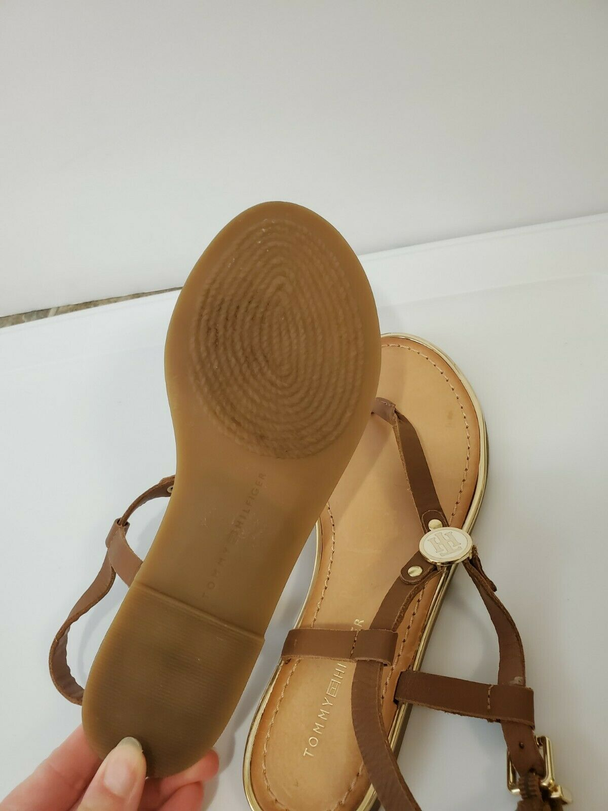 Tommy hilfiger women Brown Leather Sandals  - image 5