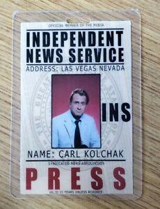 Night Stalker ID Badge-Carl Kolchak Press costume cosplay