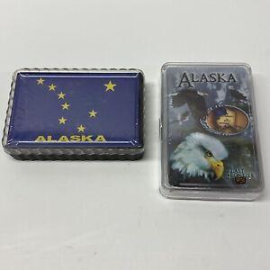 Alaska-Souvenir-Playing-Cards-Map-And-Eagle-Decks-NEW