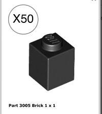 LEGO LOT OF 50 WHITE 1X1 DOT PILLAR PIECES HOUSE BUILDING BEAM BRICK PARTS BULK