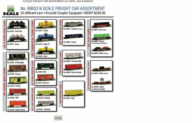 Model Power 89653 N Freight Cars Assortment (24)