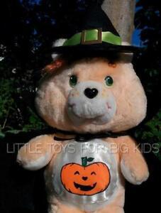 Custom-Made-TRICK-OR-SWEET-12-034-Plush-HALLOWEEN-Care-Bear-Vintage-Kenner