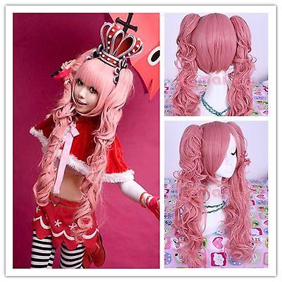 One Piece Princess Mononoke Perona 60cm long pink Cosplay costume wig ML86