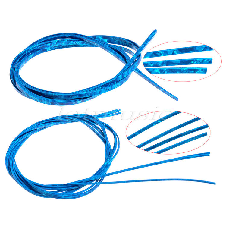 Celluloid Guitar Parts Bindings Purfling Strips Blue Pearl