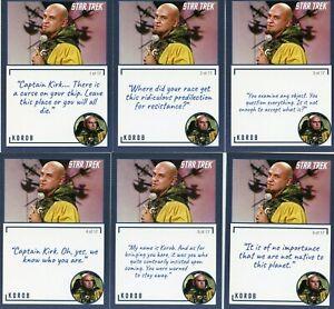 Star-Trek-TOS-Archives-amp-Inscriptions-card-45-Korob-all-17-different-Variations