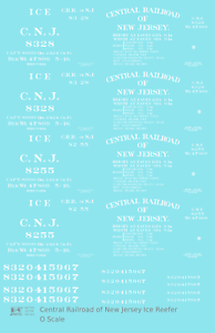 K4 S Decals Central Of New Jersey Wood Ice Reefer White Early Scheme
