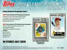 2020 Topps Clearly Authentic Baseball Hobby Box (1 Pack/1 Auto) Releases 6-24-20