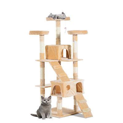 Multi-Level Cat Tree Scratcher Activity Center Climbing Tree Condo Furniture w/