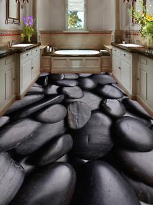 3D negro piso de piedra de 854 De Papel De Parojo Murales Papel tapiz de parojo de impresión AJ Reino Unido Limón