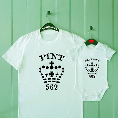 Pint Half Pint T-shirts Daddy Son Matching Shirts Matching Daddy and Baby Shirts