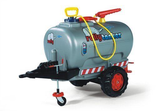 Rolly Toys Anhänger Tanker silber Einachser mit Pumpe und Spritze Fass122776 NEU