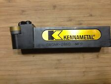 "KENNAMETAL TOOL HOLDER DRGNR-206D  1-1/4"" SQ SHANK 6""OAL RH WITH INSERT NEW"