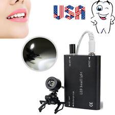 Portable Clip Led Head Light Lamp Dental Surgical Binocular Loupe High Intensity
