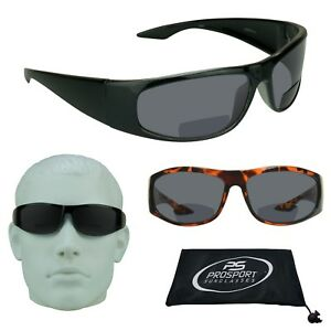 6faef0112980 Image is loading BIFOCAL-Dark-Tinted-Sunglasses-Sport-Wrap-Sun-Reader-