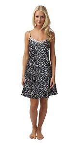 Ladies New BHS Satin Chemise Nightdress. Black Pink Floral. Sizes 8 ... 2b6e45227