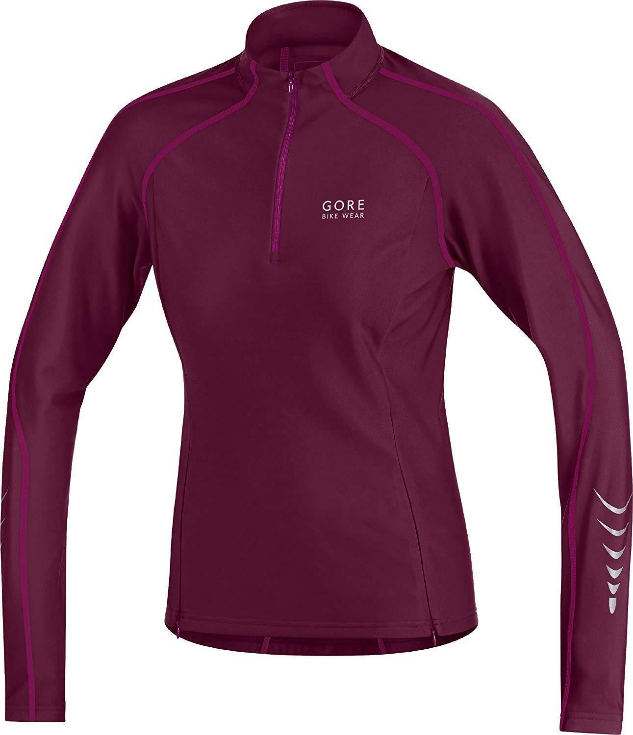 Gore Bike Wear Women's Contest Thermo Cycling Jersey shiraz red thai pink L 40
