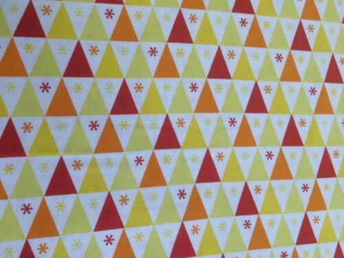dots Star-Jaune Benartex-sous le chapiteau RAYURES TRIANGLES + Orange