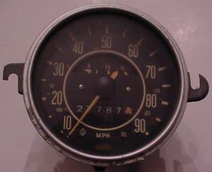 vintage vw volkswagen bug beetle ghia type  speedometer fuel gas gauge ebay