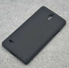For Huawei Ascend G700 New Black TPU Matte Gel Skin case cover
