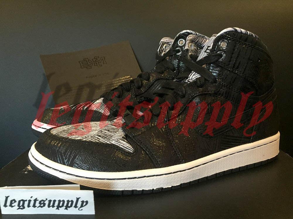 Jordan 1 Negro Retro Alta Nike Air BHM Negro 1 History Blanco 579591010 9093e7