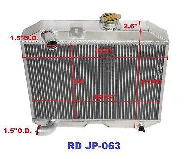 """fit41-52 Jeep Willys M38 CJ-2A CJ-3AMB L4 L6 MT 3Row Performance Radiator+10/""""Fan"""