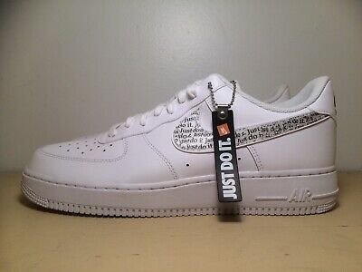 new styles d9143 18fea Nike Air Force 1 Low Just Do It Pack Men's Sz. 11.5 Shoes White Clear  BQ5361-100 | eBay
