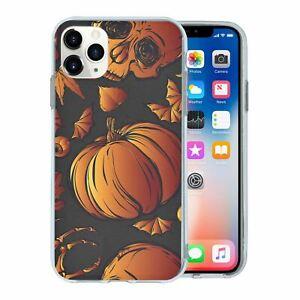 Cubierta posterior de silicona teléfono caso patrón-S4021 Calabaza de Halloween