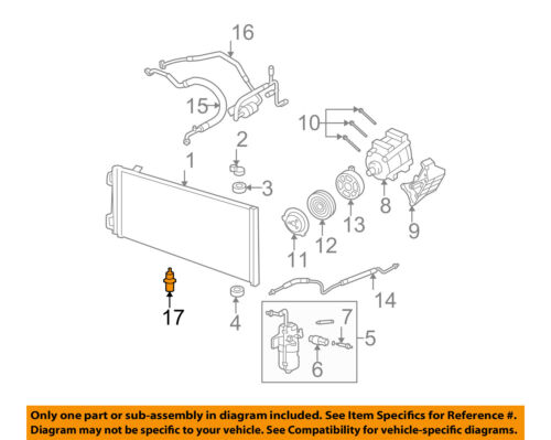 FORD OEM-Outside Air Ambient Temperature Sensor AE5Z12A647A