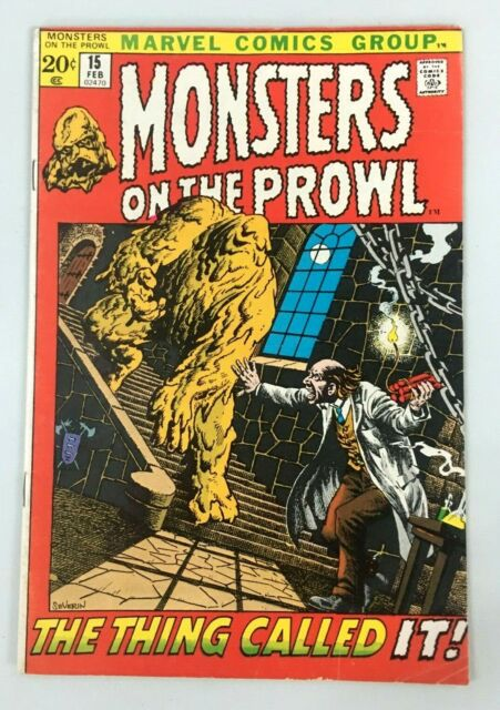 Monsters on the Prowl #15 (Feb 1972, Marvel Comic Book)  Silver Age.