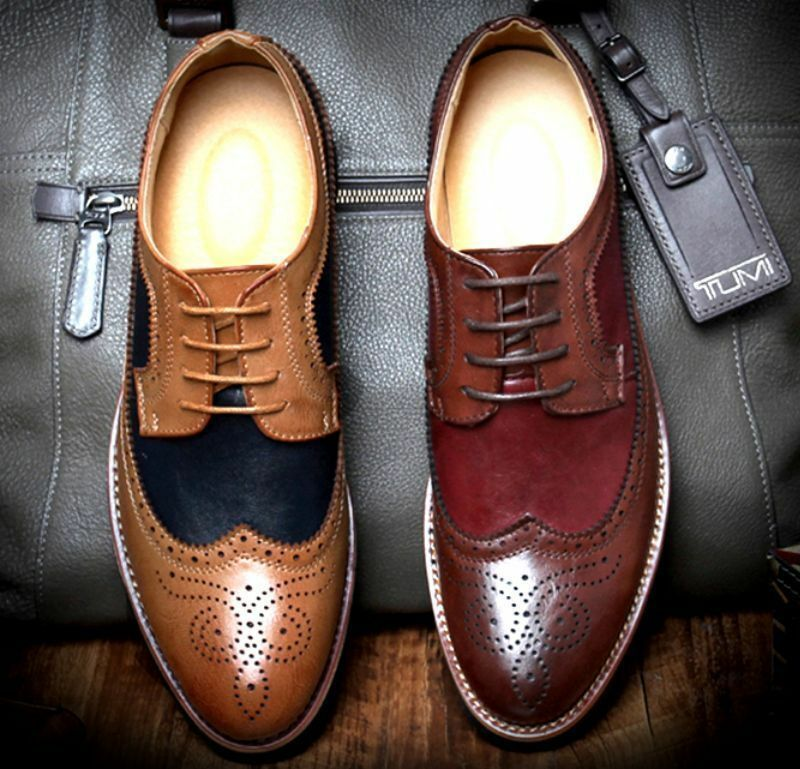 Brogue Fashion New Mens British Style Dress Formal Casual Leisure Wingtip shoes