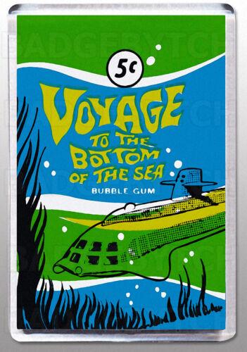 Voyage to the Bottom of the Sea gum wrapper grand aimant de réfrigérateur-Classique!