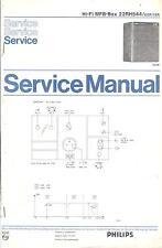 Philips Service Manual für MFB-Box 22 RH 544  .