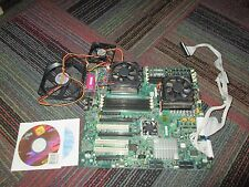 NOS SUPERMICRO H8DCE REV 3.1 DUAL SOCKET 940 MOTHERBOARD W/ 2X AMD PROC & MEMORY