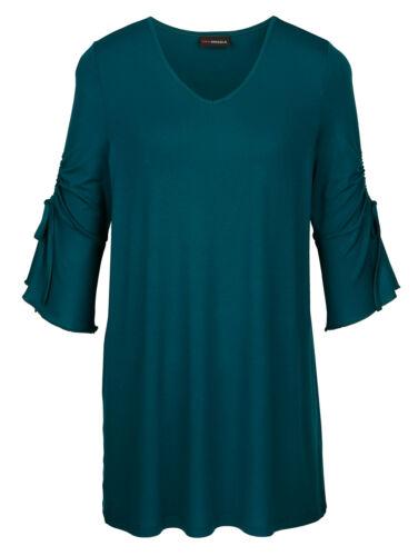 MIAMODA Longshirt 3//4 arm longshirt ohne muster gerade überlänge elastisch