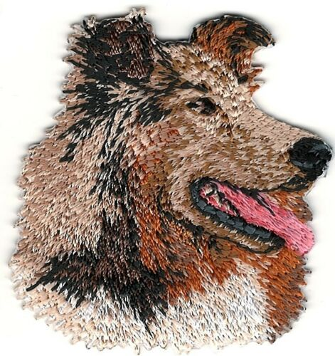 """2/"""" x 2 1//8/"""" Collie Head Portrait Dog Breed Embroidery Patch"""