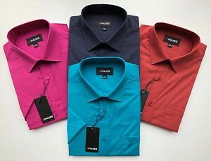 Mens Short Sleeve Regular Size Spring//Summer Print Shirts M to 2XL Cotton Blend