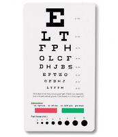 Prestige Medical Snellen Pocket Eye Chart 3909