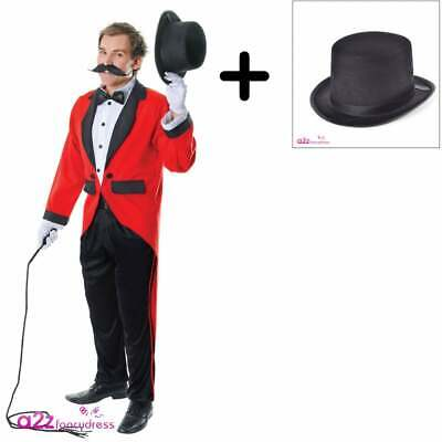 TOP HAT Adult The Greatest Showman Circus Tamer Fancy Dress Ringmaster COSTUME