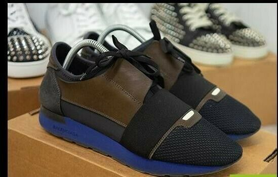 Balenciaga zapatillas tamaño 7 gris azul y marrón