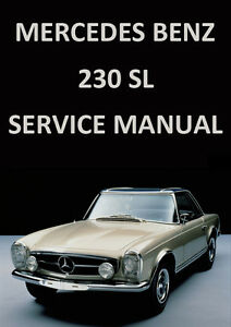Image Is Loading MERCEDES BENZ WORKSHOP MANUAL W113 230SL 1959 1966