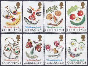 Guernsey-1995-Greetings-Welcoming-Face-of-Guernsey-Set-UM-SG663-70-Cat-4-25