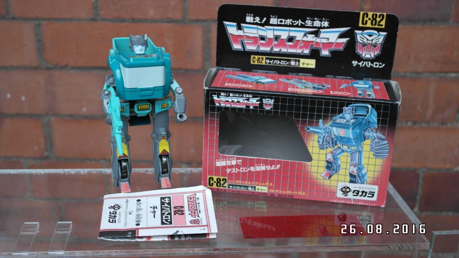 1986 Trasformatori ORIGINALE G1 Takara giapponese KUP completo in scatola C-82