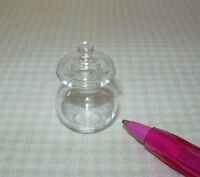 Miniature Classic Clear Glass Cookie/candy Jar/lid: Dollhouse Miniatures 1/12