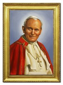 Oil-Painting-Pictures-Hand-Painted-Frame-Pope-Johannes-96511